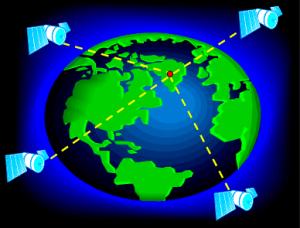 immagine di posizionamento satellitare GPS