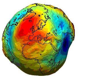Rappresentazione del geoide terrestre