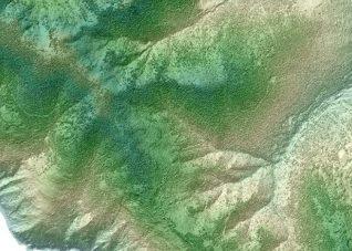 Immagine della restituzione geografica del LIDAR DTM del Ministero Ambiente