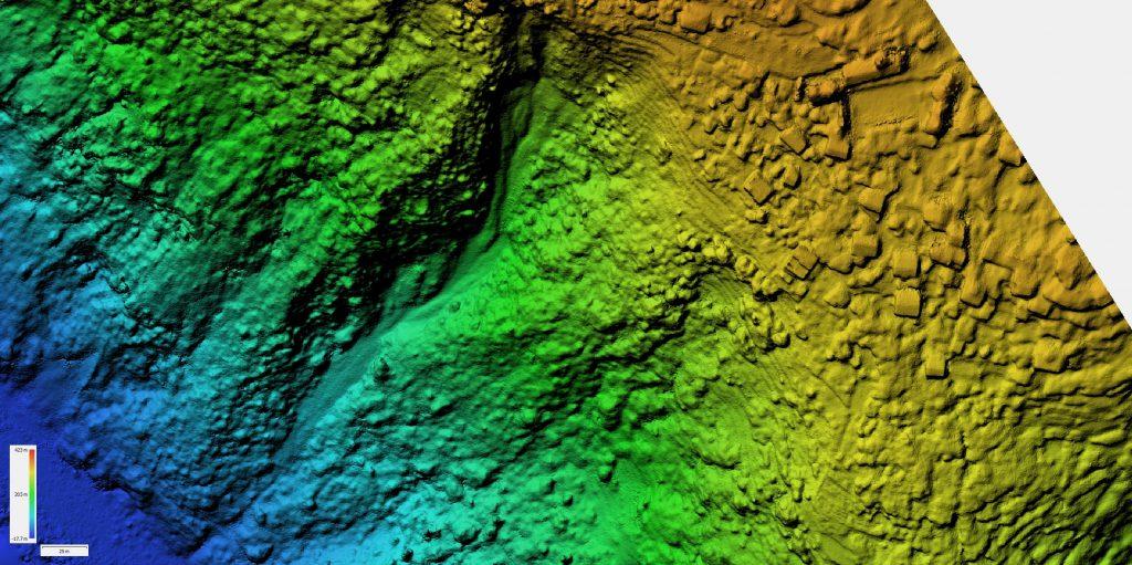 Dettaglio dell'immagine di un DEM (Digital Elevation Model)