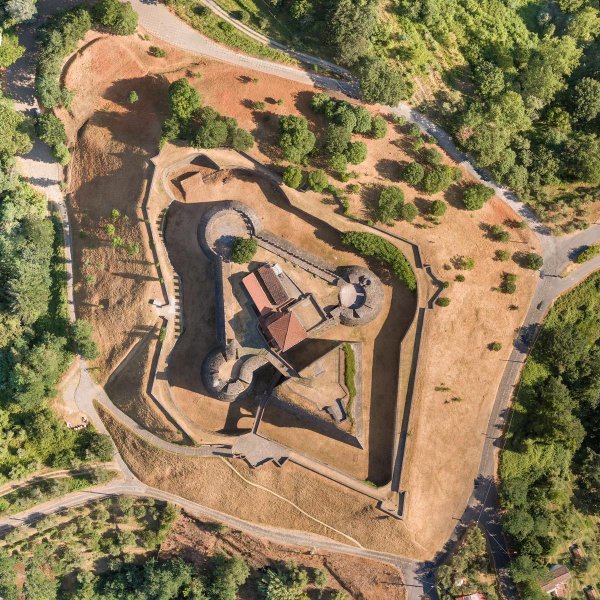Ortofoto di forte medievale