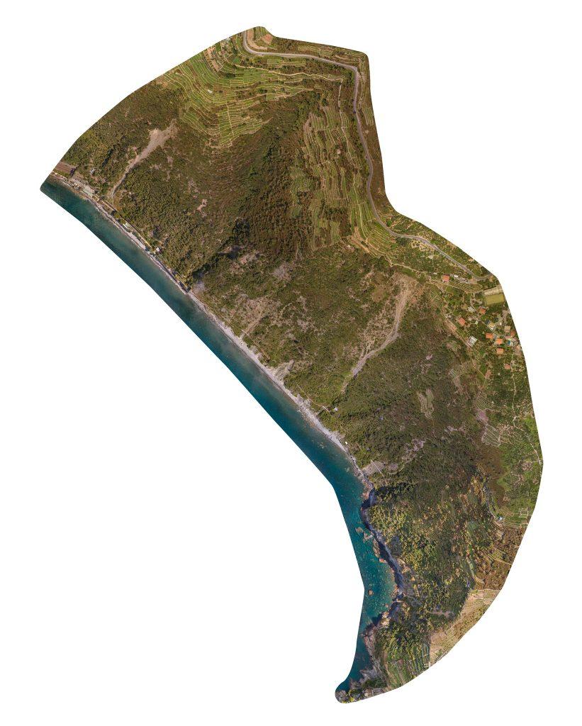 ortofoto di area rilevata con rilievo con drone