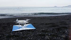 Immagine del drone utilizzato nei rilievi aerofotogrammetrici, il DJI Phantom 4