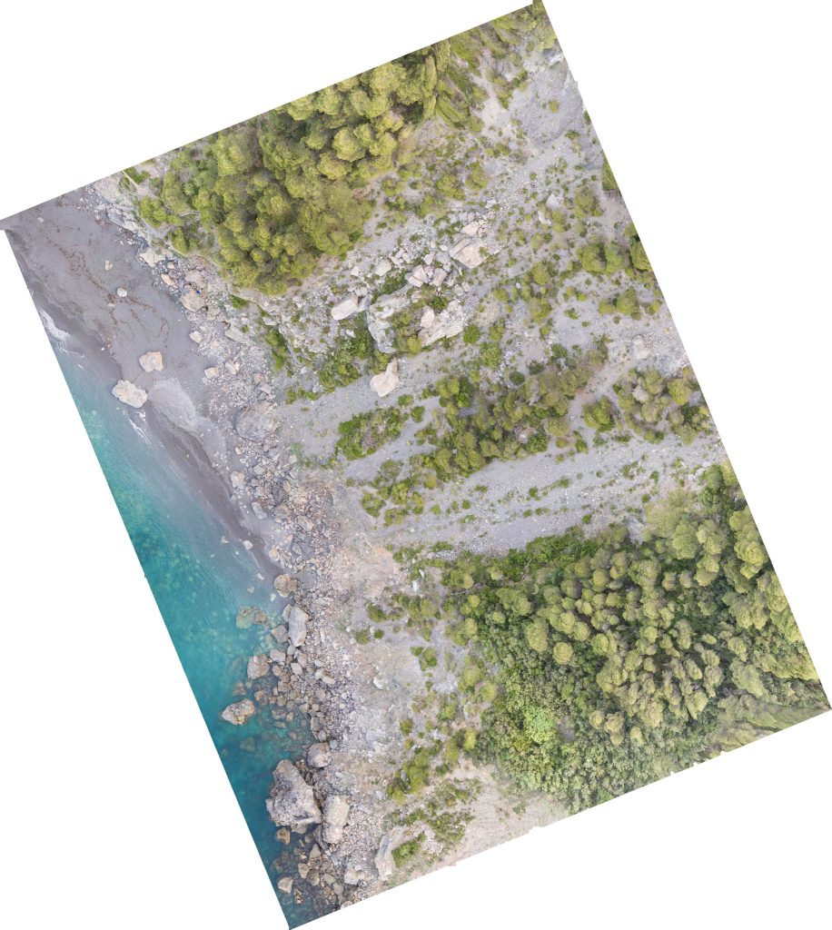 Ortofoto della Spiaggia di Punta Corvo