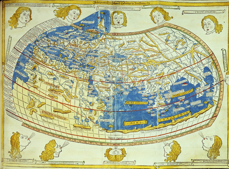 Immagine che rappresenta la mappa di Tolomeo