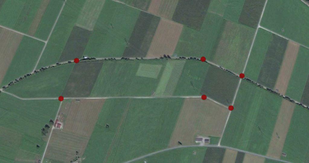 Immagine di segnaposto in Google Earth
