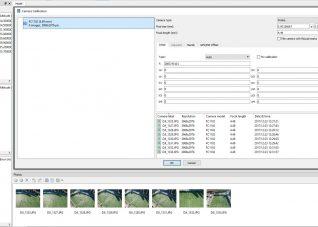 Immagine della finestra di calibrazione delle immagini in Photoscan