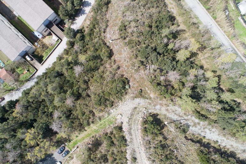 immagine aerea di zona rurale scattata da drone in rilievo aerofotogrammetrico