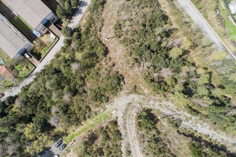 immagine aerea di zona rurale scattata da drone in rilievo aerofotogrammetrico con regolazione luci