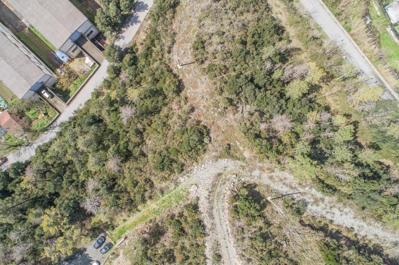 immagine aerea di zona rurale scattata da drone in rilievo aerofotogrammetrico con regolazione chiarezza