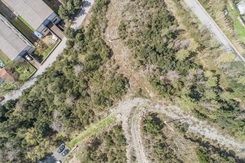 immagine aerea di zona rurale scattata da drone in rilievo aerofotogrammetrico con regolazione vividezza e saturazione