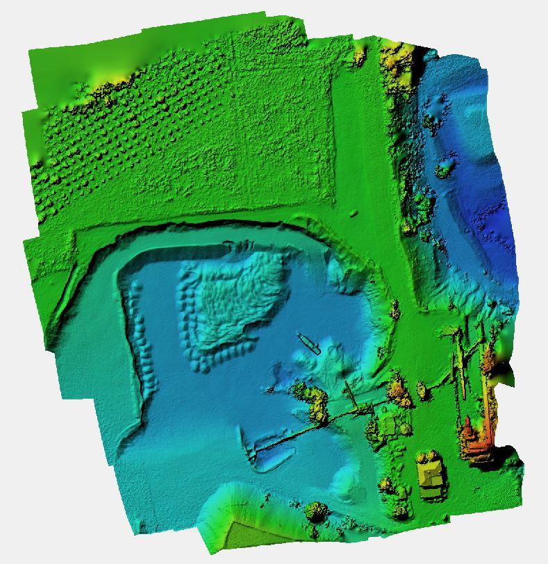 DEM generato dalla immagini della Sony QX1 su Venture Mapper
