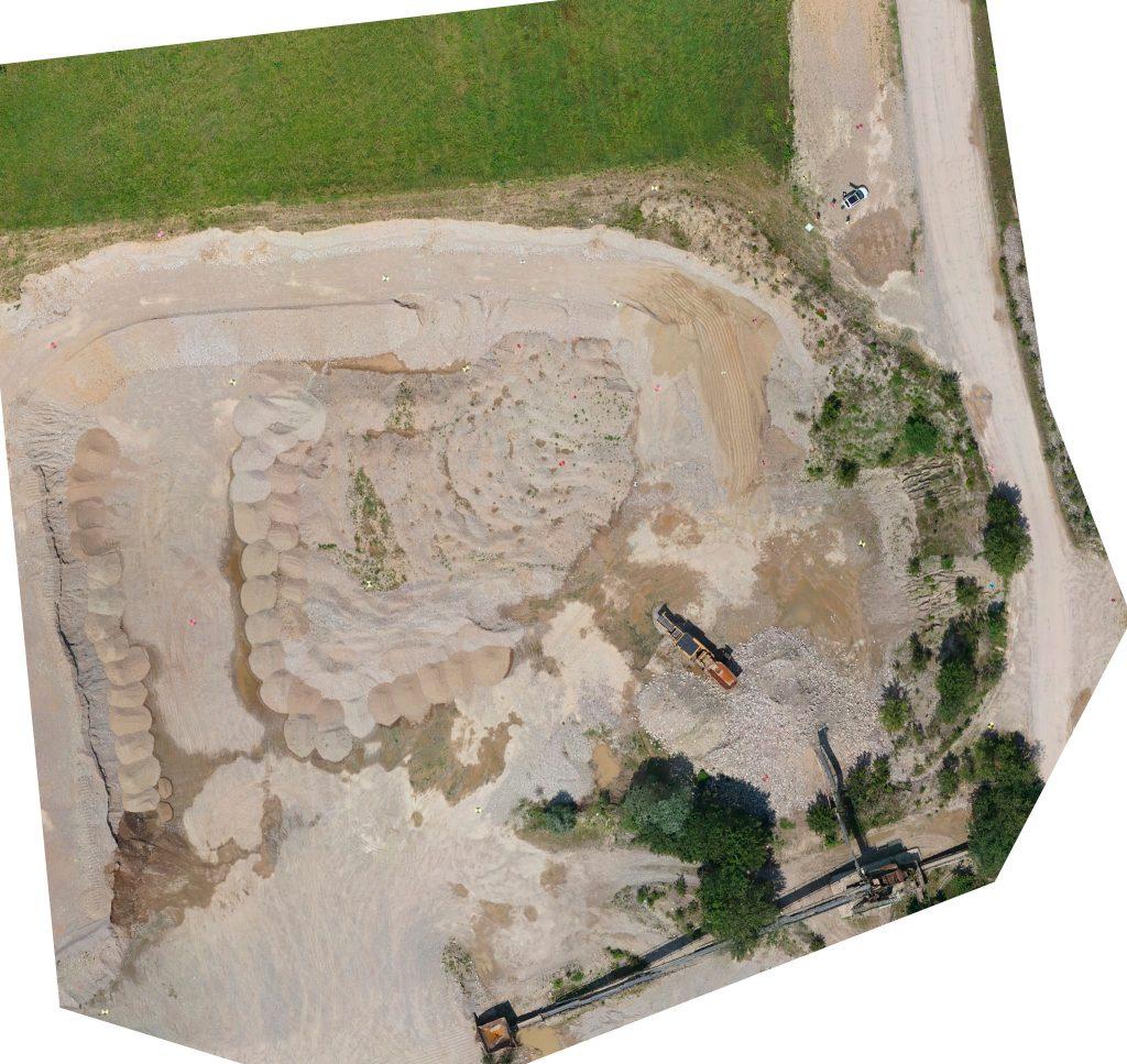 Ortofoto generate dalle immagini della Sony QX1 montata su Venture Mapper