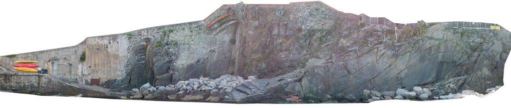 Immagine che rappresenta un ortomosaico ad alta definizione della parete verticale ricavata dalle foto del Phantom 4 Pro