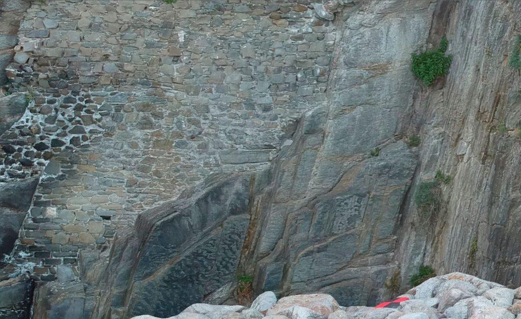 Immagine che rappresenta una porzione di ortomosaico ad alta definizione della parete verticale ricavata dalle foto dello Spark - ingrandimento al 100%