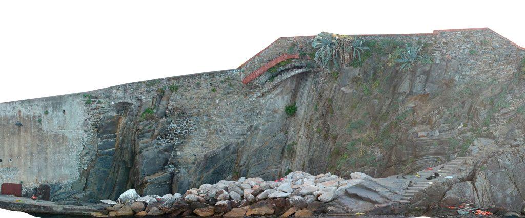 Immagine che rappresenta un ortomosaico ad alta definizione della parete verticale ricavata dalle foto dello Spark