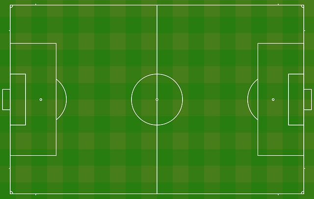 Immagine che raffigura la superficie di un campo da calcio associata ad un sistema di riferimento