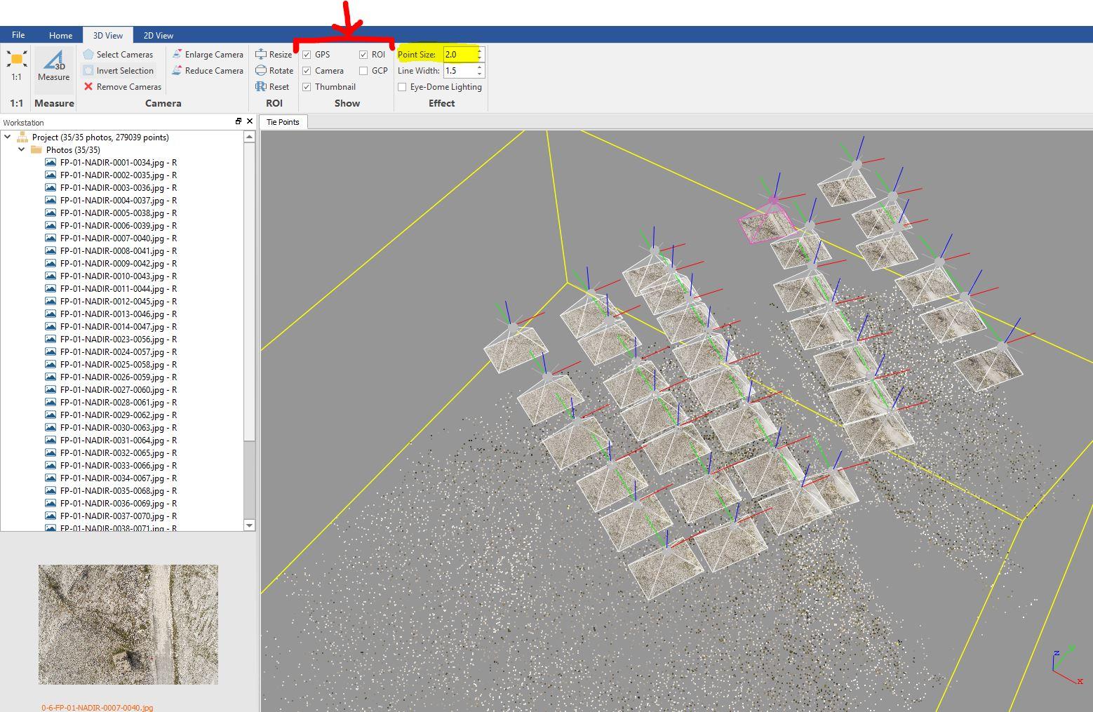 Immagine che mostra la conclusione dell'allinemento delle immagini in LiMapper
