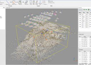 Immagine di una schermata del software di elaborazione fotogrammetrica LiMapper