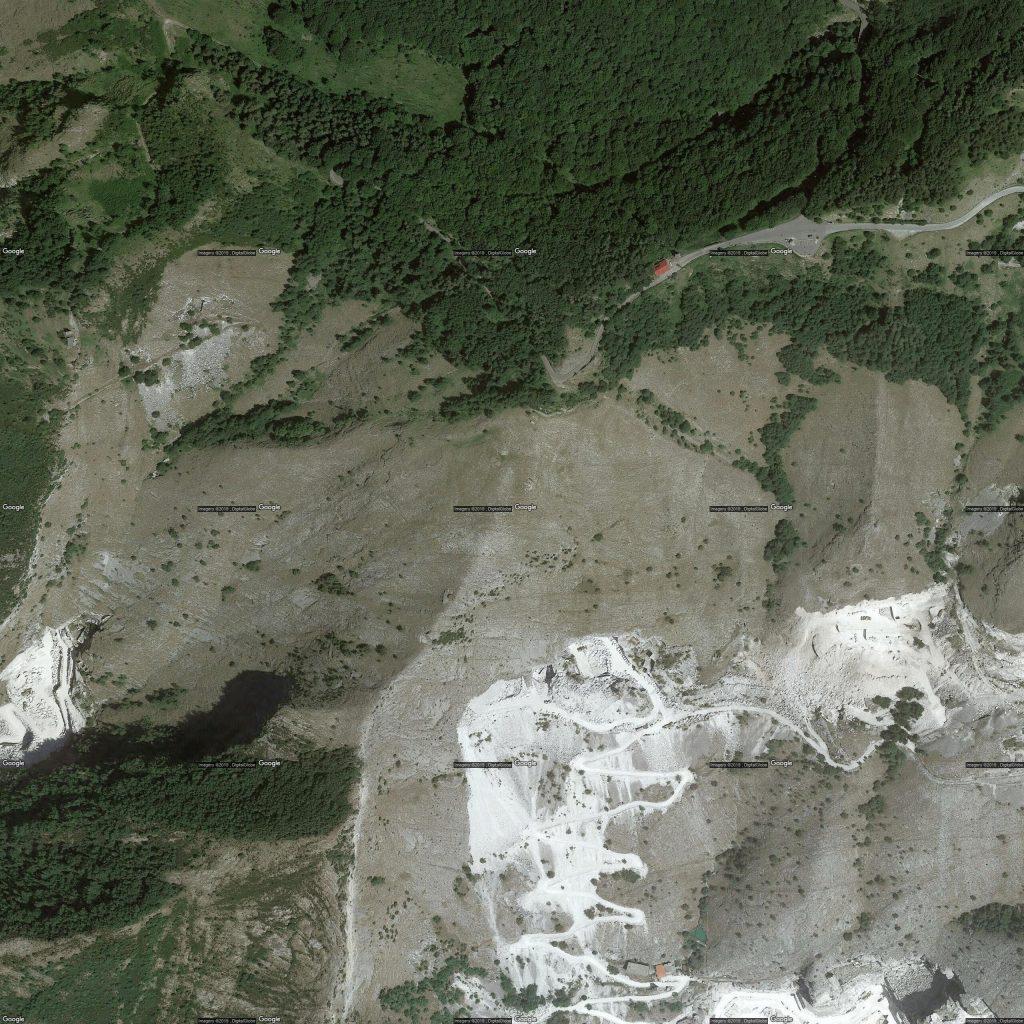Immagine di una mappa di Google caricata dal software Thopos