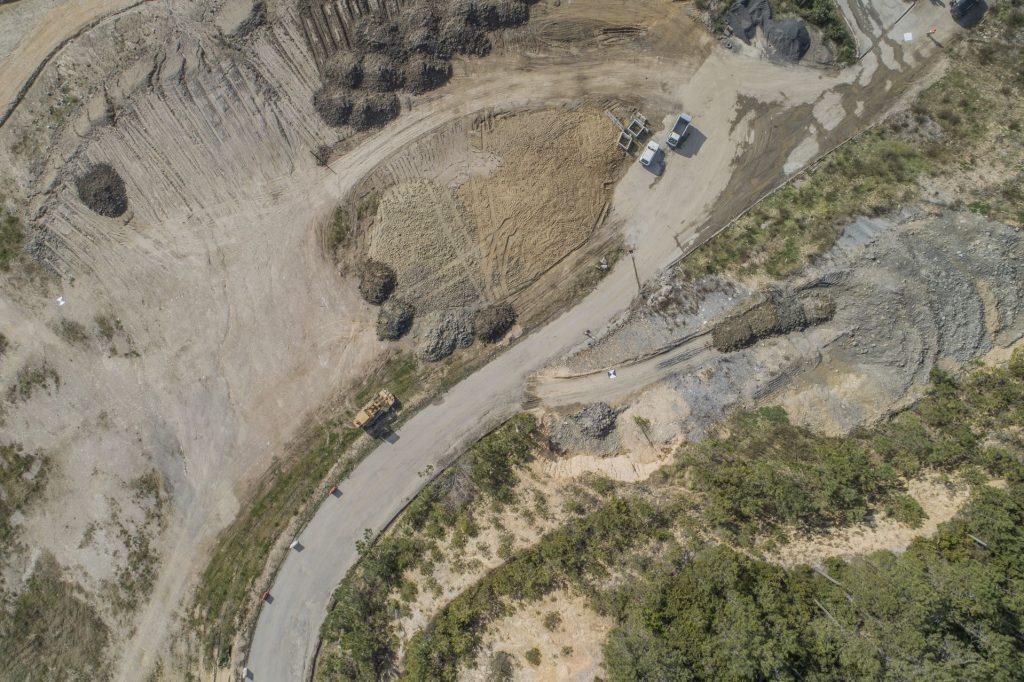 Immagine aerea da drone in formatojpg elaborata a partire dal file RAW