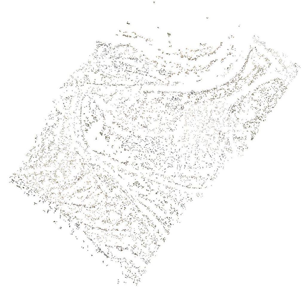 nuvola di punti sparsa - punti di legame