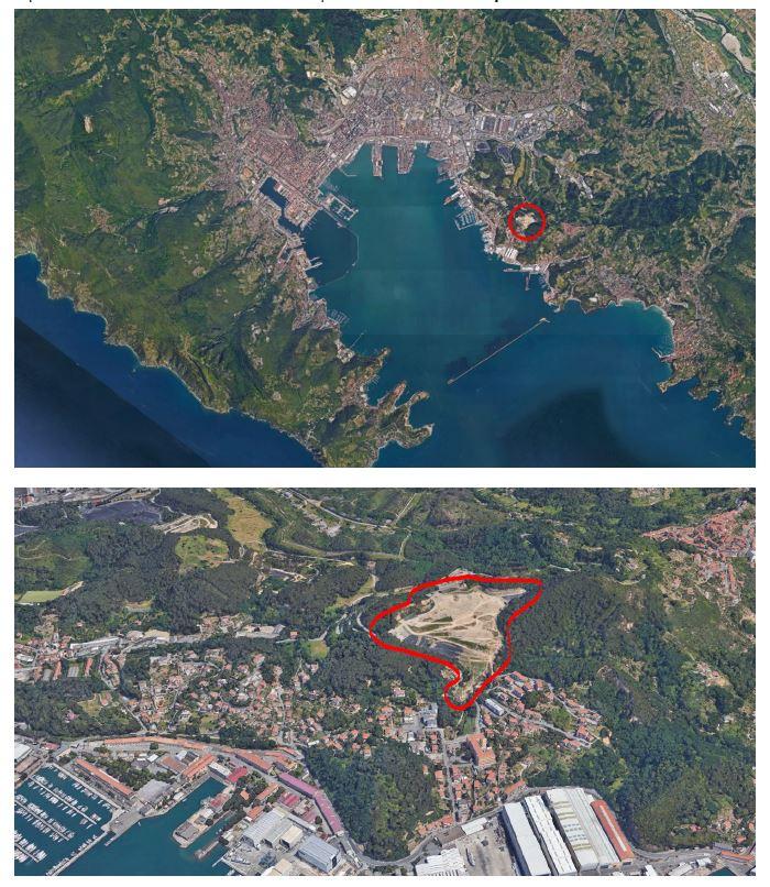 localizzazione dell'area di intervento in Google Earth