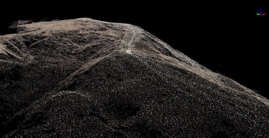 Nuvola di punti da rilievo aerofotogrammetrico ealborata con Lidar360