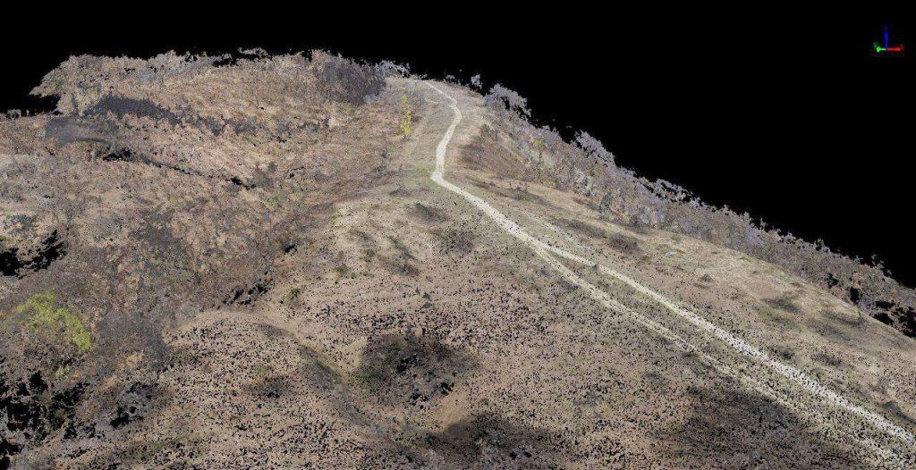 Nuvola di punti greza da rilievo aerofotogrammetrico