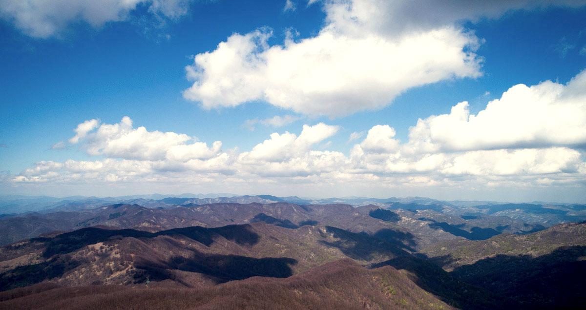 fotografia aerea dell'appennino toscano