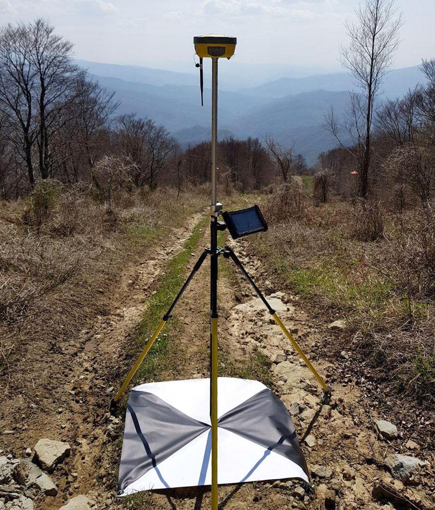 rilievo GCP con GNSS