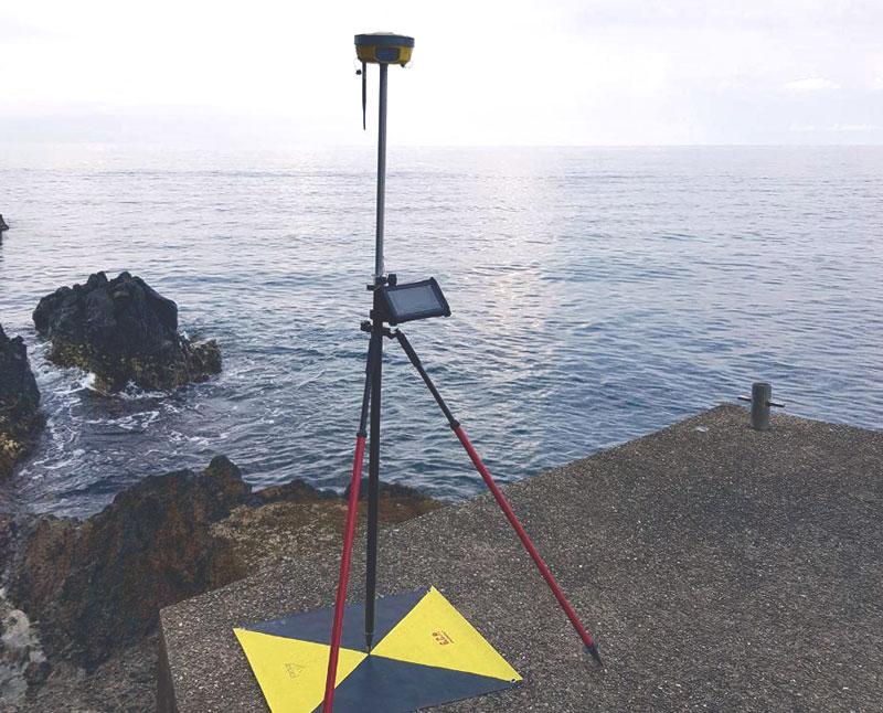 Ricevitore satellitare in misura di un GCP