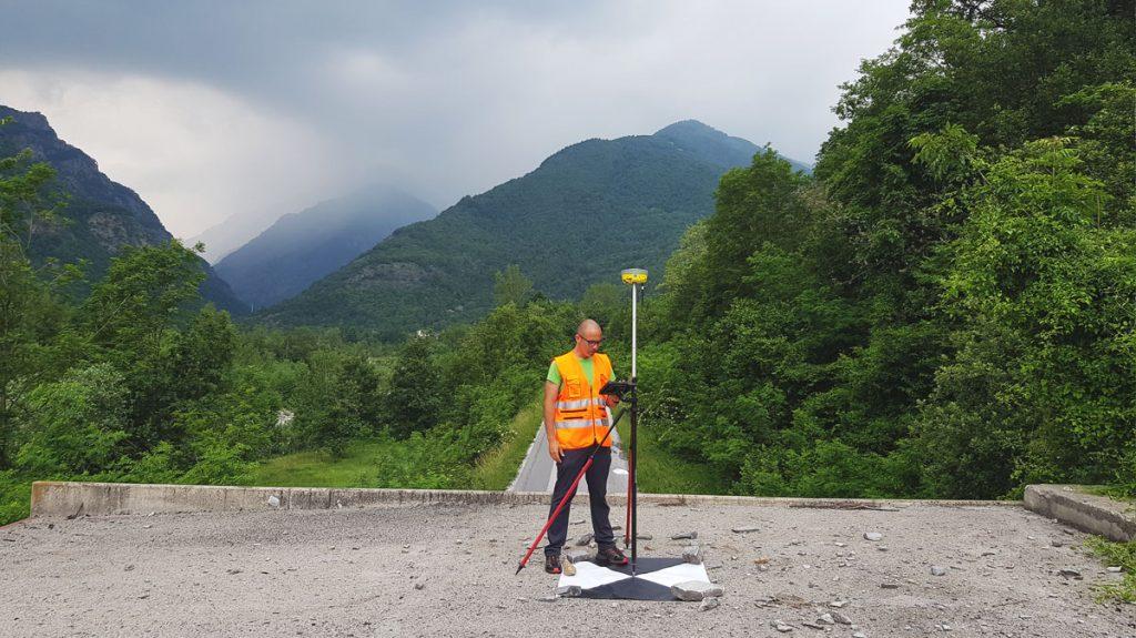 Rilievo GNSS di target ad altà visilità
