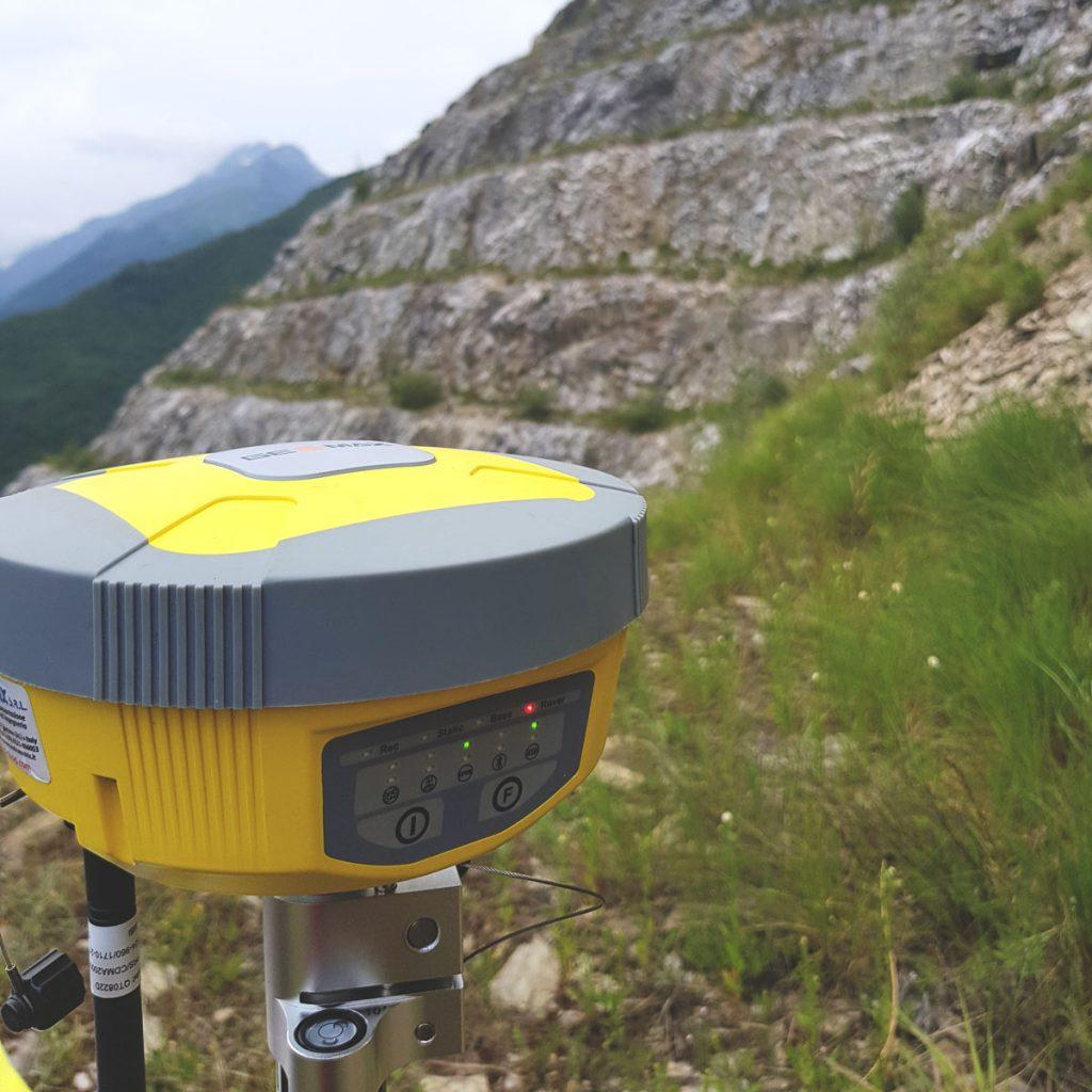 Ricevitore GNSS durante il sopralluogo in campo