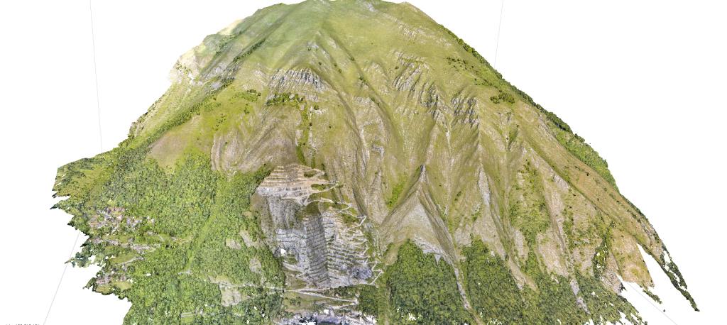 Nuvola di punti densa del Monte La Piastra
