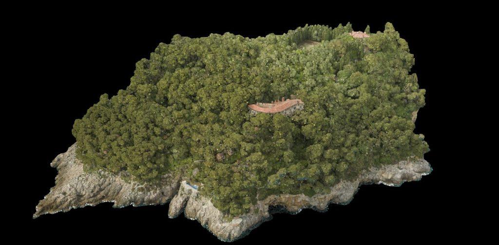 nuvola di punti da rilievo aerofotogrammetrico