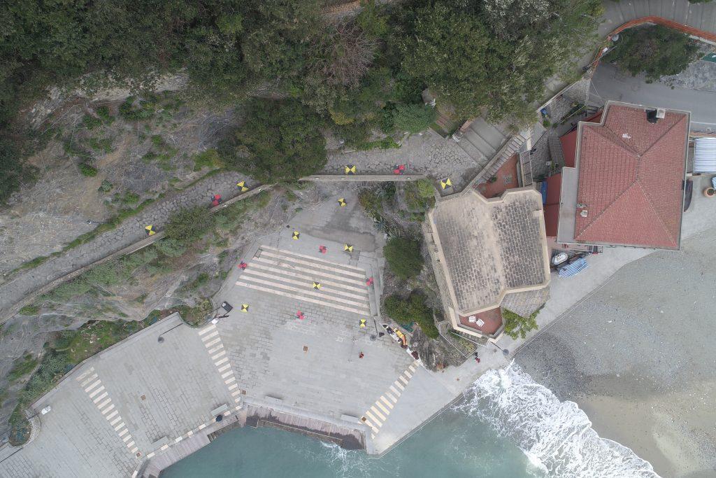 foto aerea dell'area di rilievo