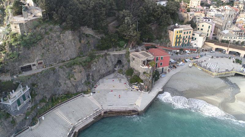 foto aerea dell'area del rilievo a Monterosso
