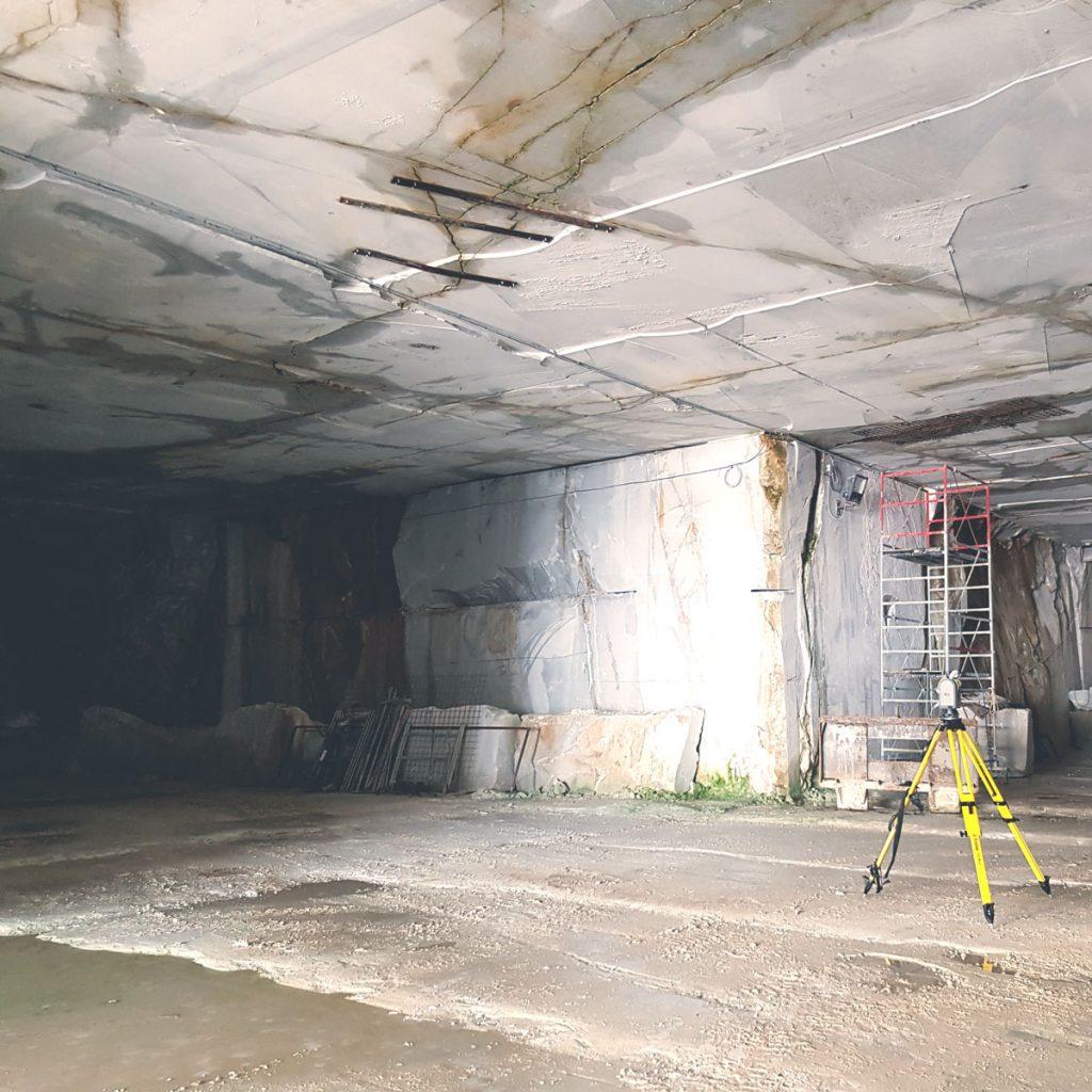 Trimble SX10 in rilievo indoor di gallerie di cava