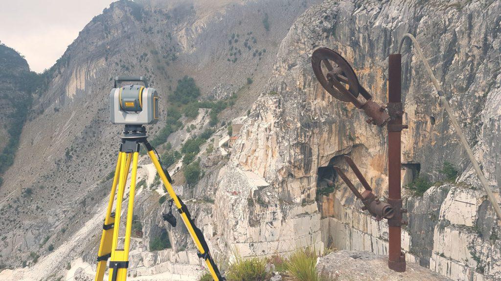 Laser scanner a tempo di volo in rilievo di pareti rocciose