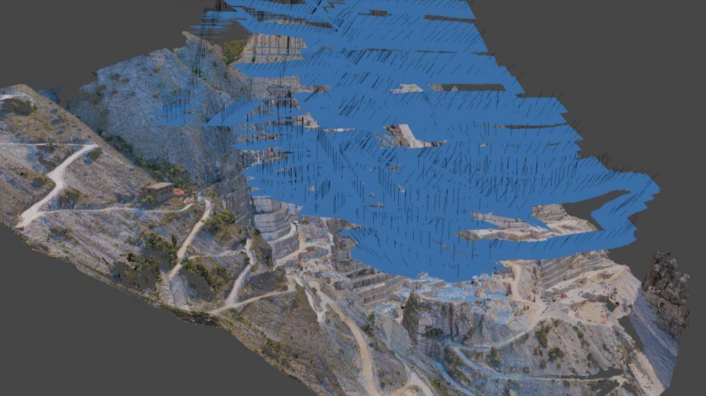 Elaborazione structure from motion - nuvola di punti e foto