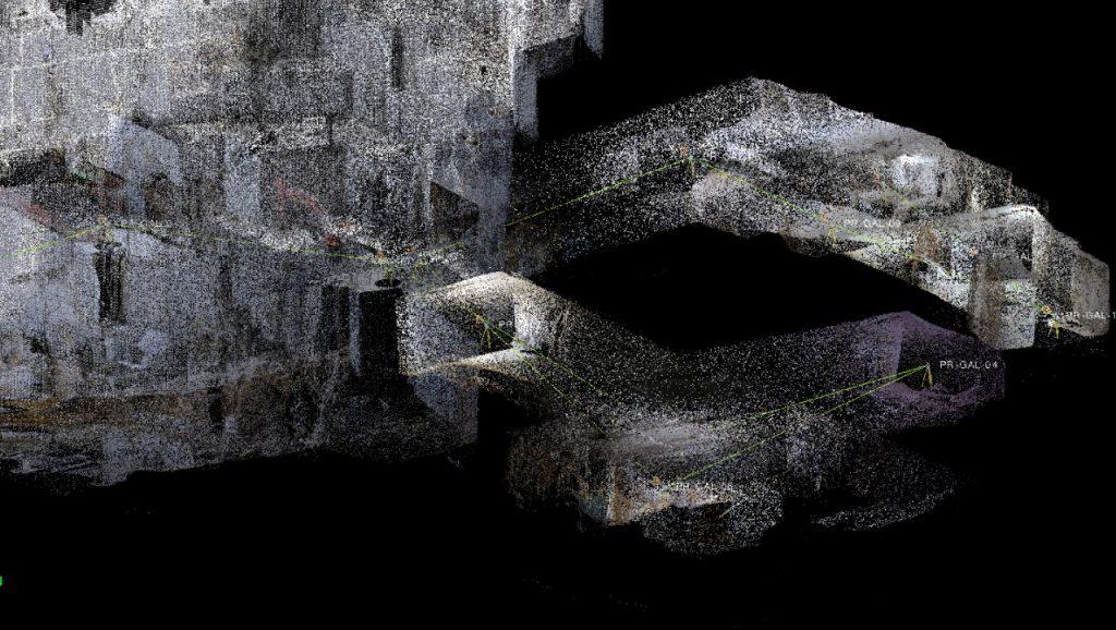 nuvola di punti di galleria di cava