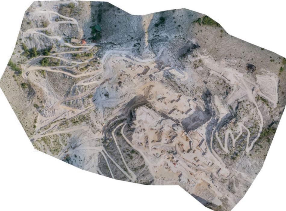 ortofoto di area di cava