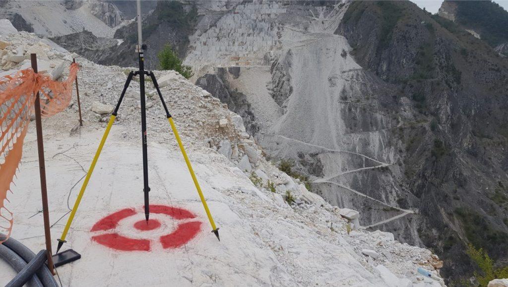 rilievo di target con antenna GNSS