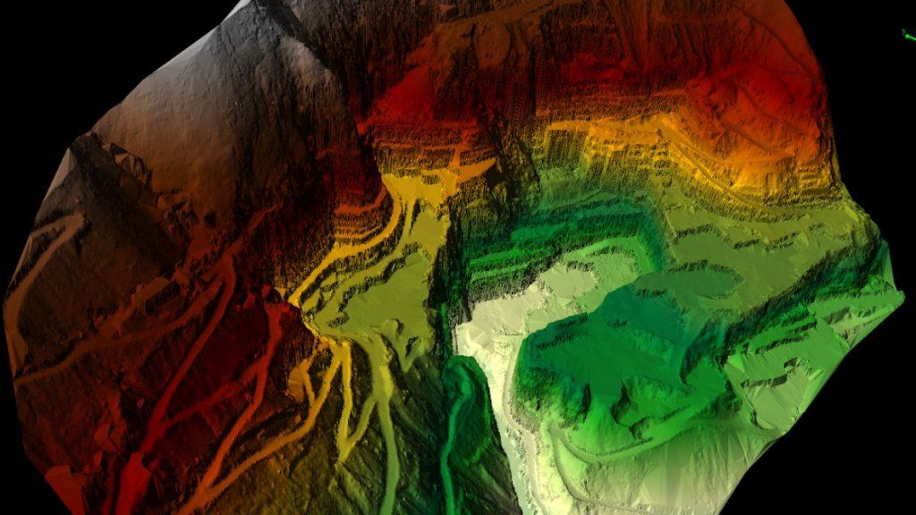 superficie TIN di cava